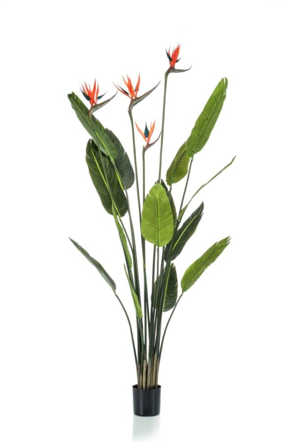 Artificial Strelitzia tree w 4 flowers 150cm