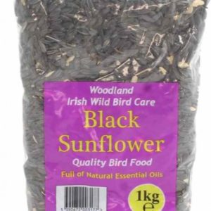 Woodland Irish Wild Bird Care Black Sunflower Seed 1KG