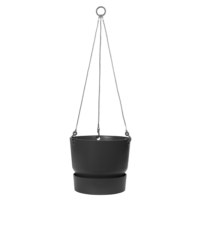 Elho Greenville Hanging Basket Living Black