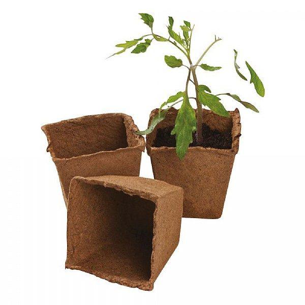 12 8cm Square Fibre Pots