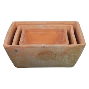Esschert Design AT05 Aged Terracotta Square Pots