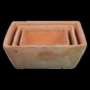 Esschert Design AT05 Aged Terracotta Square Pots