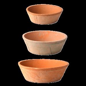 Esschert Design Aged Terracotta Round Bowls AT45
