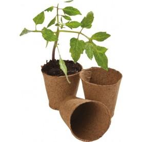 24 6cm Round Fibre Pots