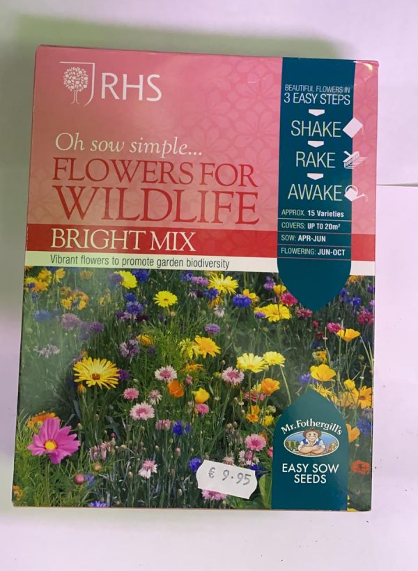 RHS Oh Sow Simple Seed Shakers Flowers For Wildlife Bright Mix