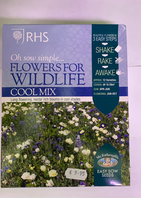 RHS Oh Sow Simple Seed Shakers Flowers For Wildlife Cool Mix