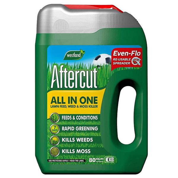 Westland Aftercut All In One Lawn Feed, Weed & Moss Killer 80m2 Spreader