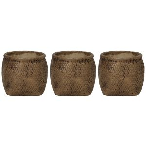 Ceramic canvas bag pot