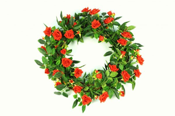 Wreath Red Rose