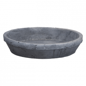 aged terracotta grey saucer round