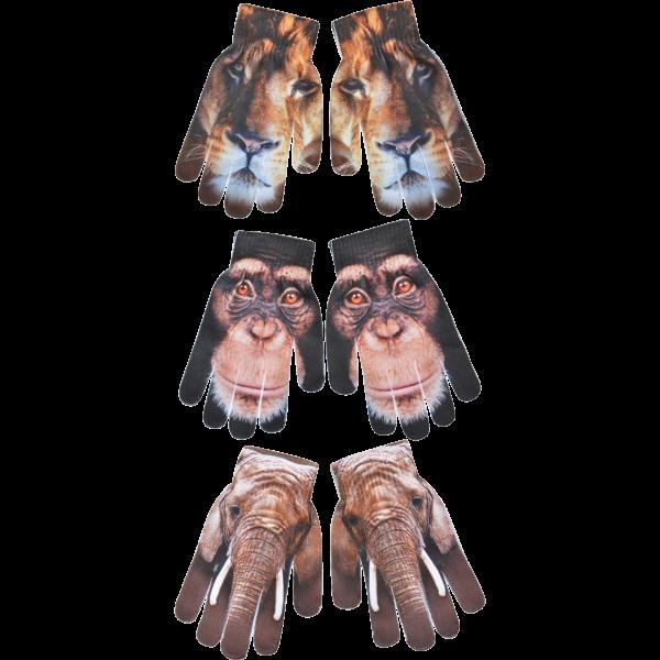 Esschert Design Children's Gloves African Animals Assorted