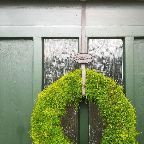 Door wreath hanger Welcome 2