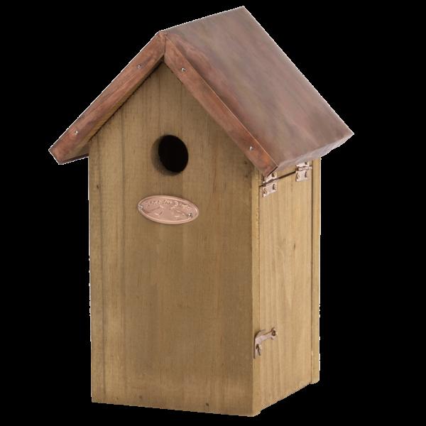 Nest box blue tit copper roof